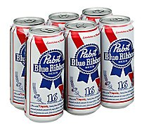 Pabst Blue Ribbon Beer Original Slimcan - 6-16 Fl. Oz.