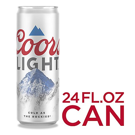 Coors Light Beer Lager 4.2% ABV In Can - 24 Fl. Oz.