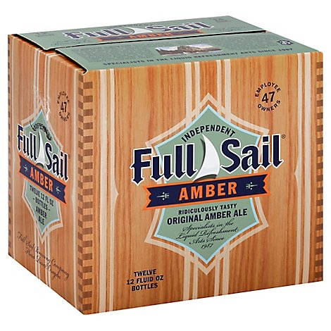 Full Sail Amber Ale Beer Bottles - 12-12 Fl. Oz.