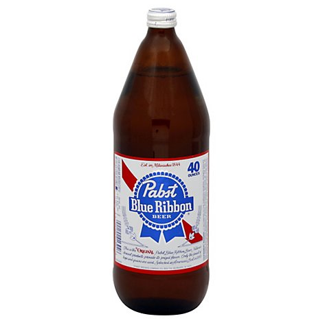 Pabst Blue Ribbon Beer Bottle - 40 Fl. Oz.