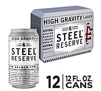Steel Reserve High Gravity Lager Beer Cans 8.1% ABV - 12-12 Fl. Oz.