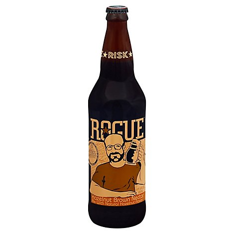 Rogue Hazelnut Brown Ale Beer Bottle - 22 Fl. Oz.