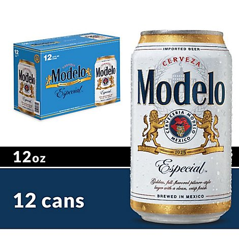 Modelo Especial Beer Lager Mexican Cans 4.4% ABV - 12-12 Fl. Oz.