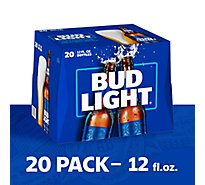 Bud Light Beer Bottles Longneck - 20-12 Fl. Oz.