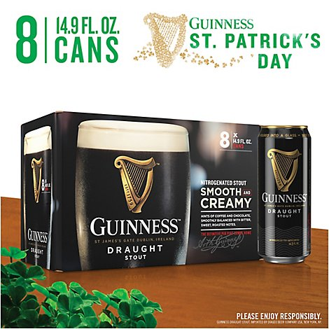 Guinness Draught Beer Stout Can - 8-14.9 Fl. Oz.