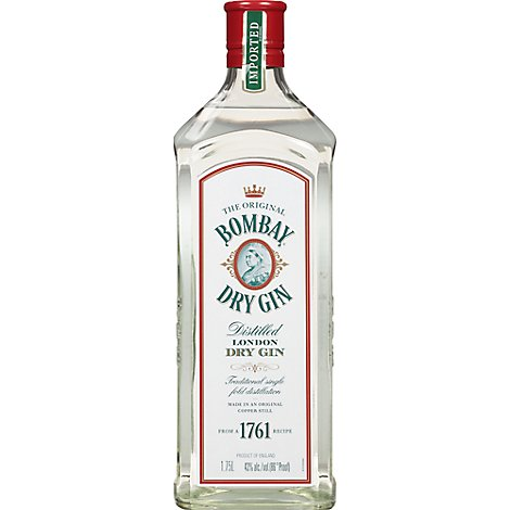 Bombay Gin London Dry Distilled 86 Proof - 1.75 Liter