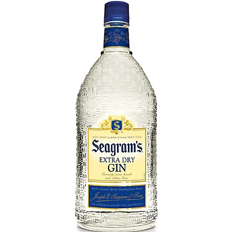 Seagrams Gin Extra Dry 80 Proof - 1.75 Liter