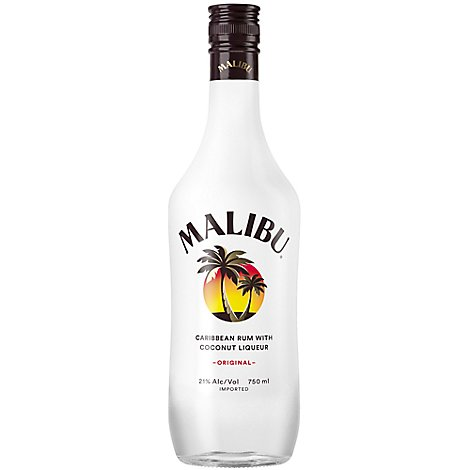 Malibu Rum Caribbean With Coconut Liqueur Original 42 Proof - 750 Ml