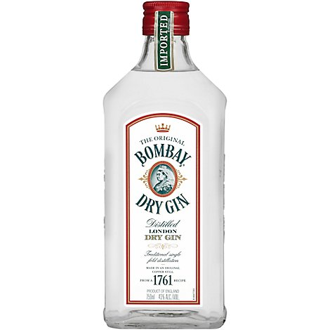 Bombay Gin London Dry Distilled 86 Proof - 750 Ml