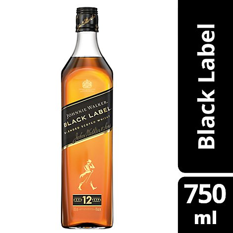 Johnnie Walker Blended Malt Scotch Whisky Black Label 80 Proof - 750 Ml