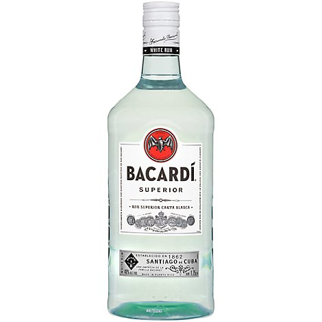Bacardi Rum Superior White 80 Proof - 1.75 Liter