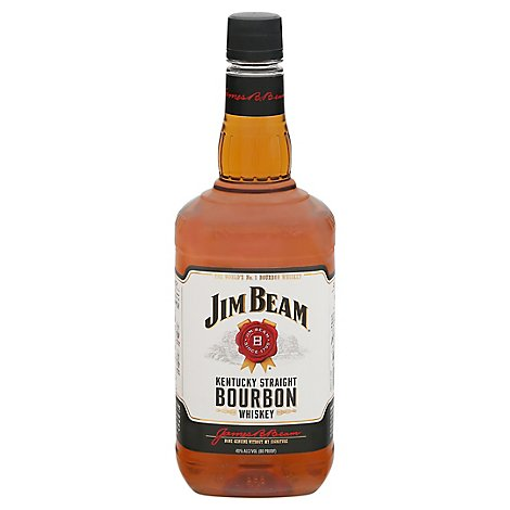 Jim Beam Whiskey Bourbon Kentucky Straight 80 Proof - 1.75 Liter