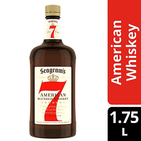 Seagrams 7 Crown Whiskey Blended American 80 Proof - 1.75 Liter