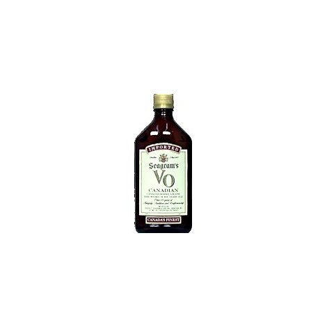 Seagrams VO Blended Canadian Whisky 80 Proof - 375 Ml