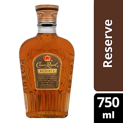 Seagrams Crown Royal Reserve Blended Canadian Whisky 80 Proof - 750 Ml