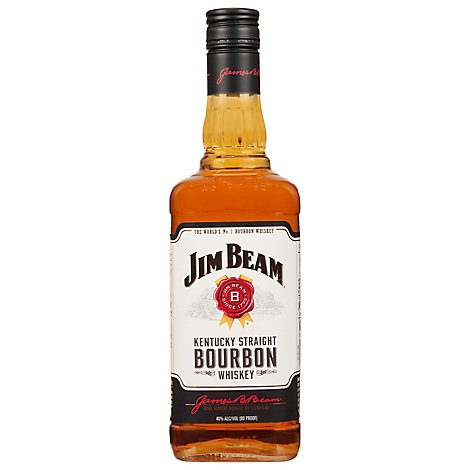 Jim Beam Whiskey Bourbon Kentucky Straight 80 Proof - 750 Ml
