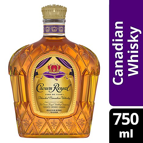 Crown Royal Whisky Blended Canadian 80 Proof - 750 Ml
