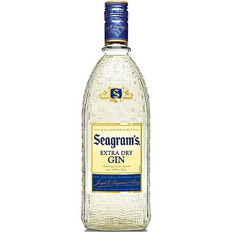 Seagrams Gin Extra Dry 80 Proof - 750 Ml