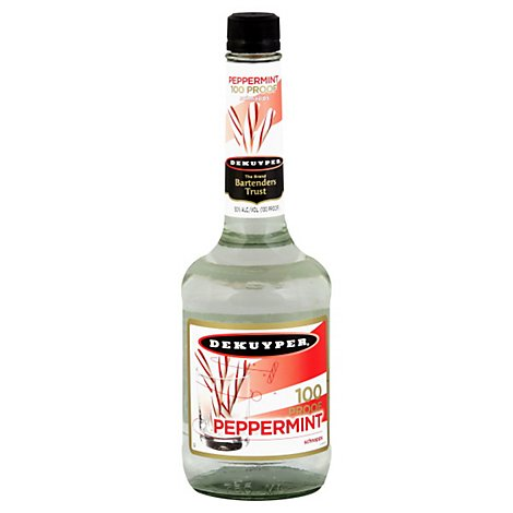 DeKuyper Schnapps Liqueur Peppermint 100 Proof - 750 Ml