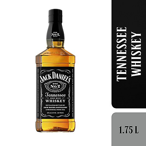Jack Daniels Whiskey Tennessee Old No. 7 80 Proof - 1.75 Liter