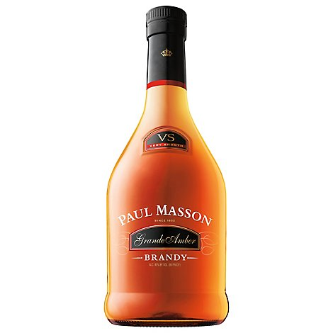 Paul Masson Grande Amber Brandy VS Bottle 80 Proof - 750 Ml