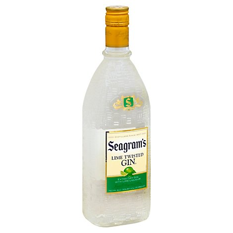 Seagrams Gin Lime Twisted Gin 70 Proof - 750 Ml