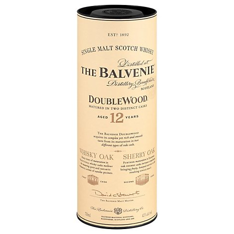 The Balvenie Double Wood Malt Scotch Whisky 12 Year-Old 86 Proof - 750 Ml