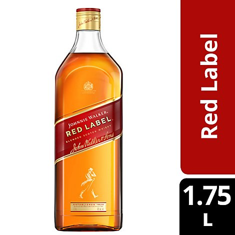 Johnnie Walker Whisky Blended Scotch Red Label 80 Proof - 1.75 Liter