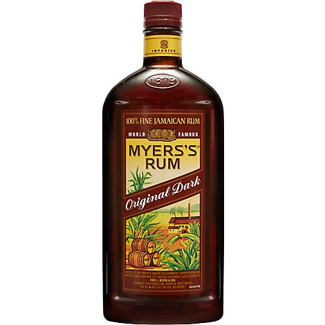 Myerss Rum 100% Fine Jamaican Original Dark 80 Proof - 750 Ml