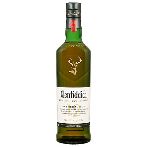Glenfiddich Scotch Whisky Single Malt 80 Proof - 750 Ml