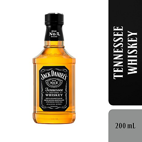 Jack Daniels Whiskey Tennessee Old No. 7 80 Proof - 200 Ml