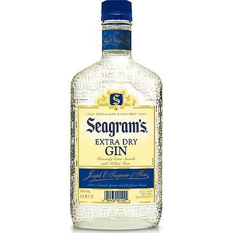 Seagrams Gin Extra Dry 80 Proof - 375 Ml
