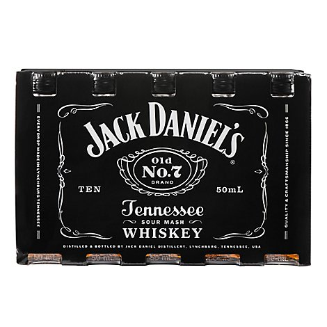 Jack Daniels Whiskey Tennessee Old No. 7 80 Proof - 50 Ml