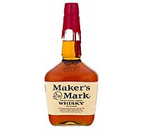 Makers Mark Whisky Bourbon Kentucky Straight 90 Proof - 1.75 Liter
