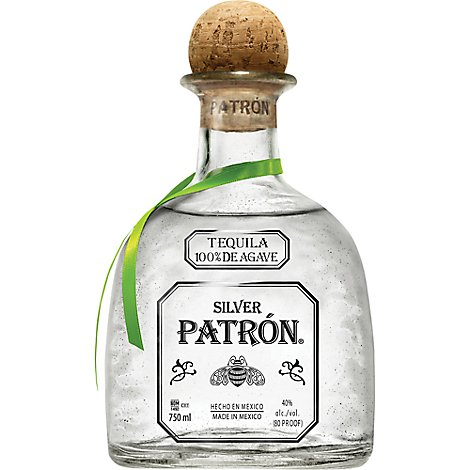 Patron Tequila 100% De Agave Silver 80 Proof - 750 Ml