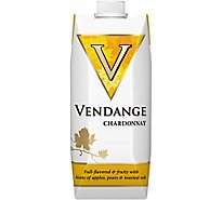 Vendange Wine White Chardonnay Go Pack - 500 Ml