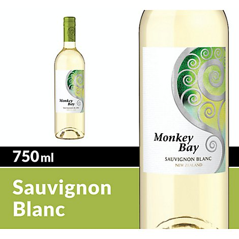 Monkey Bay Wine White Sauvignon Blanc - 750 Ml