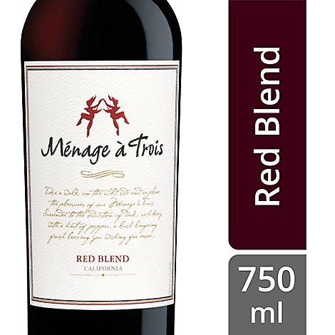 Menage a Trois Wine Red California - 750 Ml
