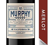 Murphy-Goode Wine Red Merlot California - 750 Ml