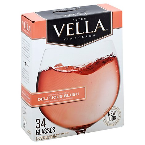 Peter Vella Blush Box Wine - 5 Liter