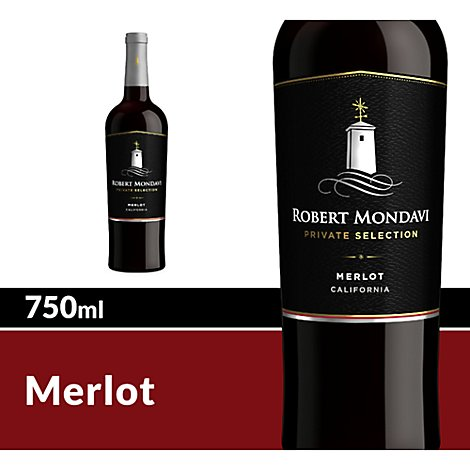 Robert Mondavi Private Selection Wine Red Merlot - 750 Ml