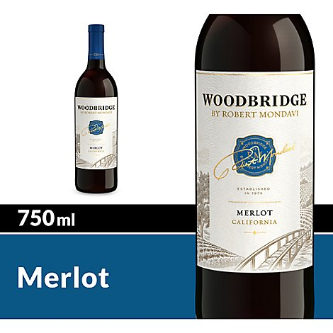 Woodbridge by Robert Mondavi Wine Merlot Red - 750 Ml