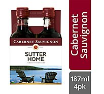 Sutter Home Wine Cabernet Sauvignon California - 4-187 Ml
