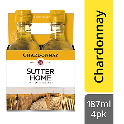 Sutter Home Wine Chardonnay - 4-187 Ml