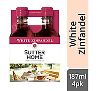 Sutter Home Wine White Zinfandel California - 4-187 Ml