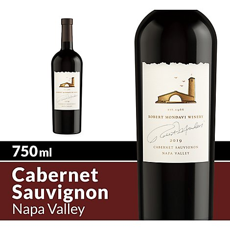 Robert Mondavi Winery Wine Red Napa Valley Cabernet Sauvignon - 750 Ml