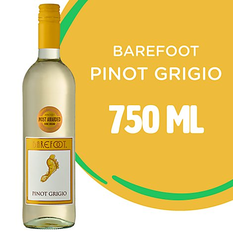 Barefoot Cellars Pinot Grigio White Wine - 750 Ml