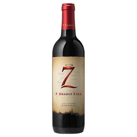 7 Deadly Wine Red Zins Zinfandel Lodi - 750 Ml
