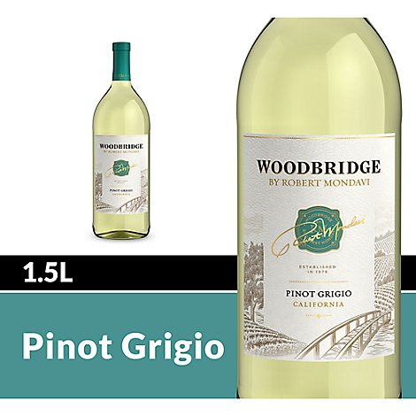 Woodbridge by Robert Mondavi Wine White Pinot Grigio- 1.5 Liter
