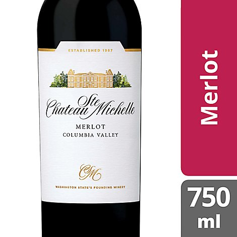 Chateau Ste. Michelle Wine Merlot Columbia Valley - 750 Ml